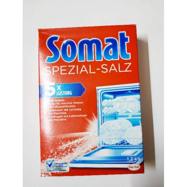 Muối rửa bát Somat hoặc Tiger 1,2kg dành cho máy rửa bát