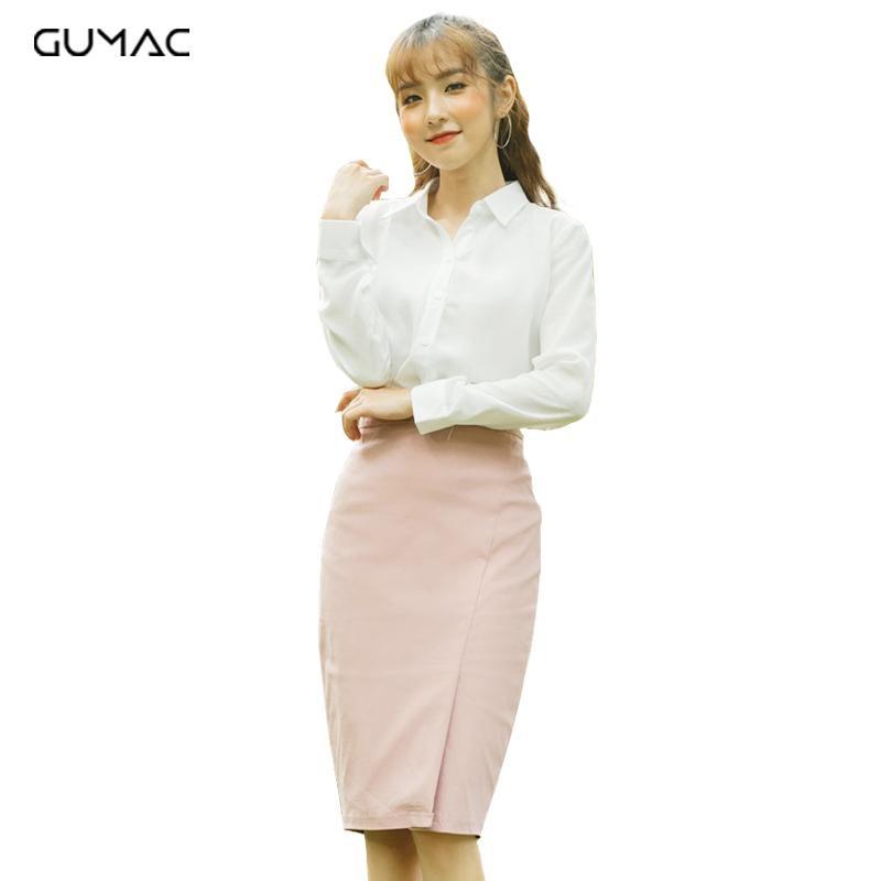 Chân váy nữ xẻ tà VA355 GUMAC