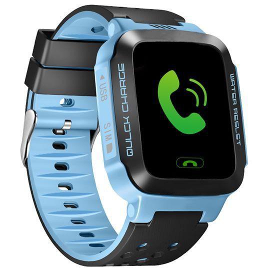 Đồng hồ định vị trẻ em E5 GPS (Hỗ trợ tiếng Việt) - Xanh