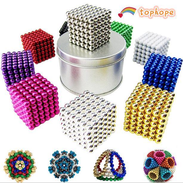 Fun 3mm 216pcs Neodymium Sphere Magic Balls Iron Cube Ball Fidget Stress Relief Top