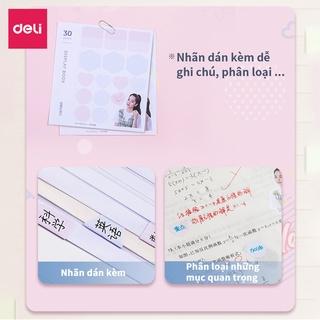 Hình ảnh File lá học sinh A4 Deli - 30/40 lá - Xanh dương/Hồng/Trắng - 1 chiếc - 72493 / 72494-7