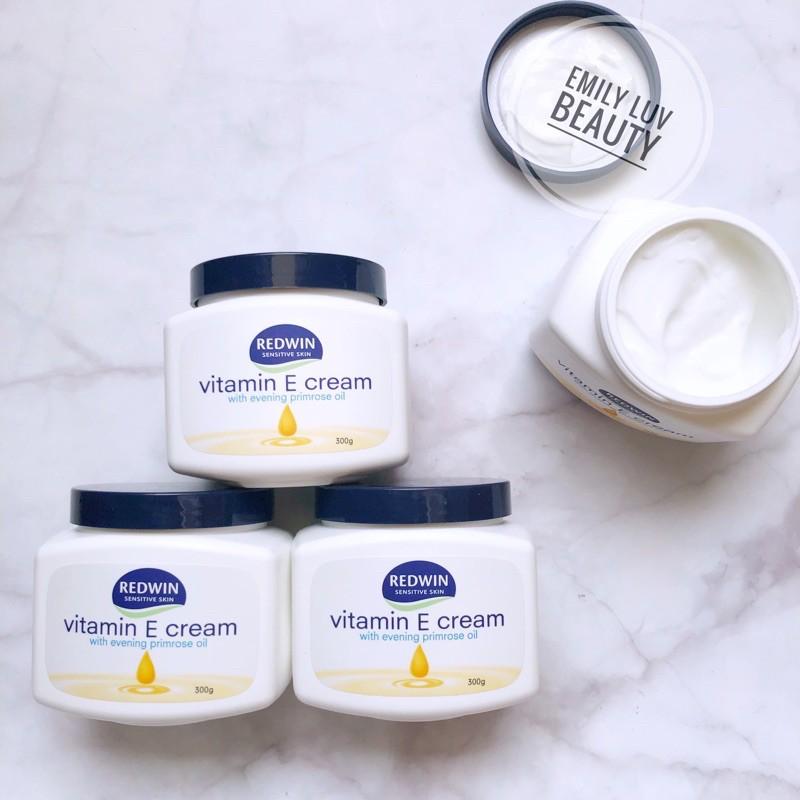 Kem dưỡng vitamin E & dầu hoa anh thảo Redwin 300g