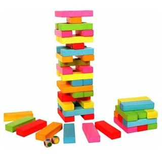 Bộ đồ chơi rút gỗ 48 thanh màu – SIÊU BỀN