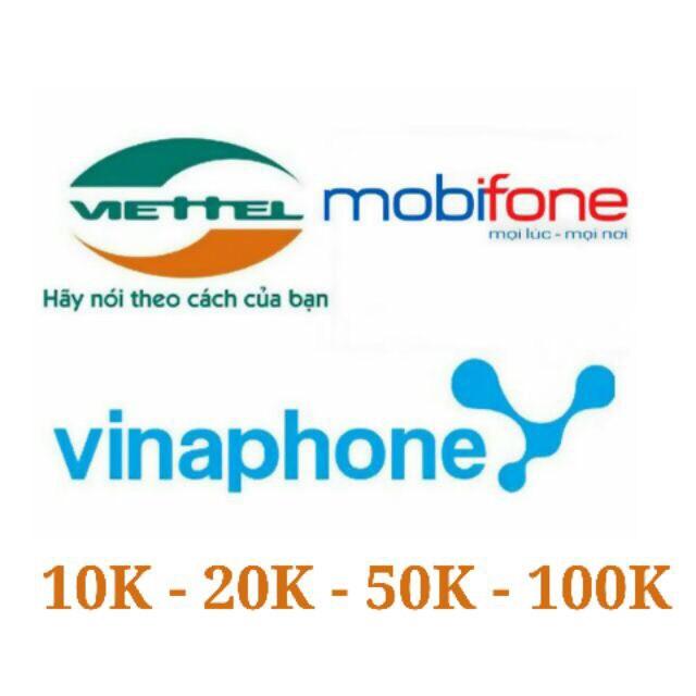 Thẻ điện thoại tất cả các mạng Mobi - Viettel - Vina