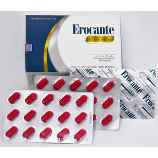 Viên uống Erocante hỗ trợ đen tóc, giảm rụng tóc, nhanh mọc tóc con, hộp 90 viên sử dụng trong 45 ngày.