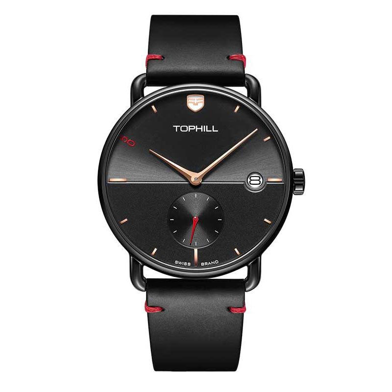 Đồng hồ nam chính hãng TOPHILL TA036G.PB5152 - Dây da - kính Saphire