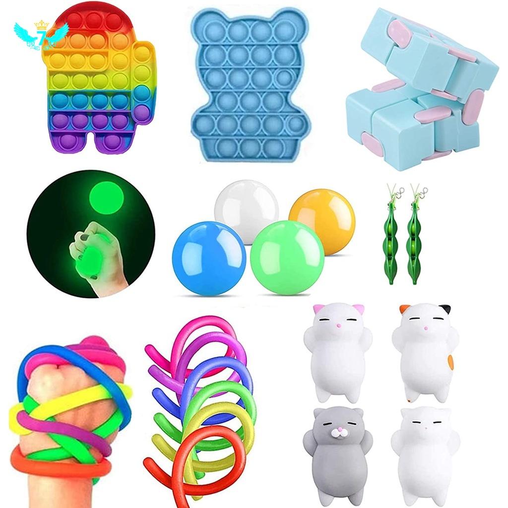 Bộ đồ chơi bóng nắn bóp giúp giải tỏa căng thẳng