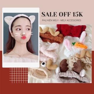 Băng đô rửa mặt tai thỏ tai mèo dể thương tiện dụng phong cách hàn quốc thumbnail
