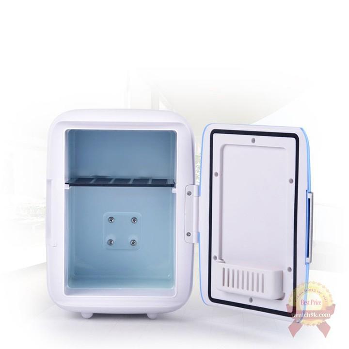 Tủ lạnh mini xe ô tô Car Cooler 2 chiều nóng lạnh dung tích 4L sử dụng trực tiếp trên ôtô dùng điện 12V