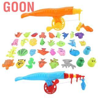 Goon 39pcs/set Magnetic Fishing Toy Fish Rod Net Set Playing Game Educational Toys Baby Kids Gift