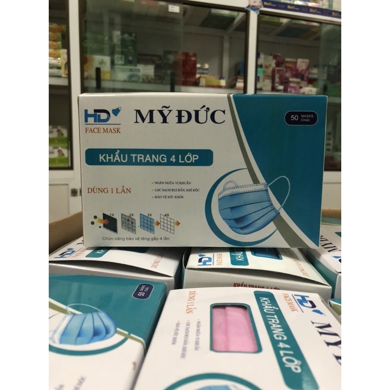 Khẩu trang y tế 4 lớp - Kháng khuẩn y tế 100%