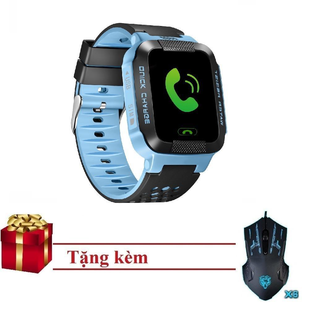 Đồng hồ thông minh định vị trẻ em GPS Tracker Q528 + tặng kèm chuột M1 đèn led 7 màu
