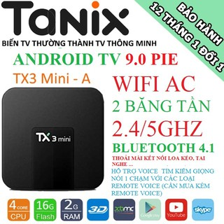 Yêu ThíchTX3 Mini, Android TV 9.0, Wifi AC, Bluetooth 4.1, Ram 2GB - ROM 16GB - BH: 1 năm, cấu hình mạnh trong tầm giá