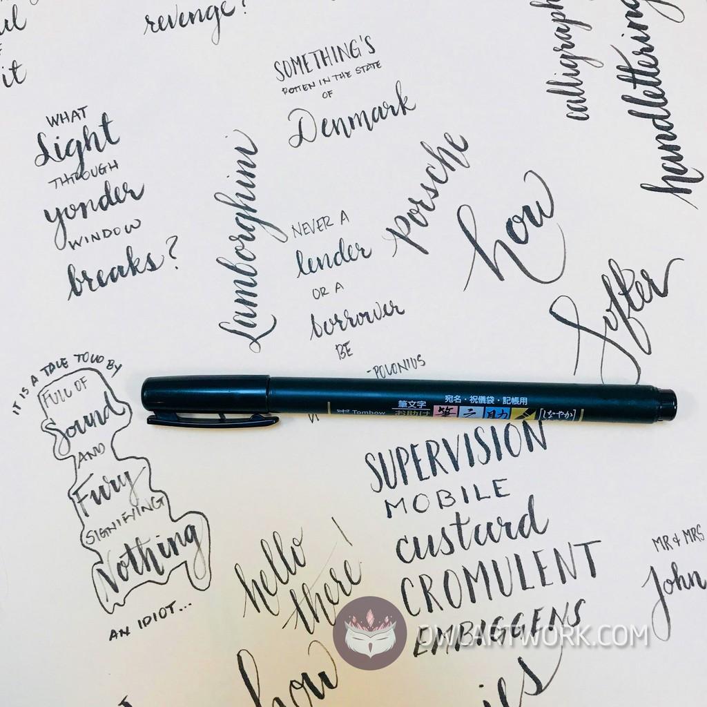 Bút Viết Thư Pháp Tombow Fudenosuke - Calligraphy - Brush Lettering