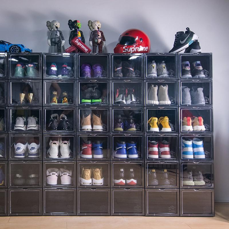 Hộp Đựng Giày Nhựa Cứng Sneaker Box Cửa Mở Nam Châm Tặng gói hút ẩm - Hàng loại 1