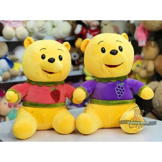 Gấu pood hoa quả- Thêu tay cực đẹp