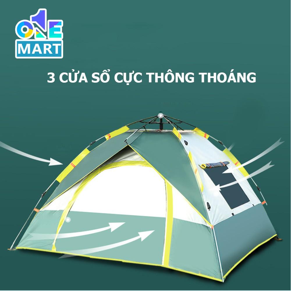 [Dày Dặn 2 lớp] Lều cắm trại tự bung chống tia tử ngoại không ngại mưa nắng 1 cửa chính 3 cửa sổ thông thoáng