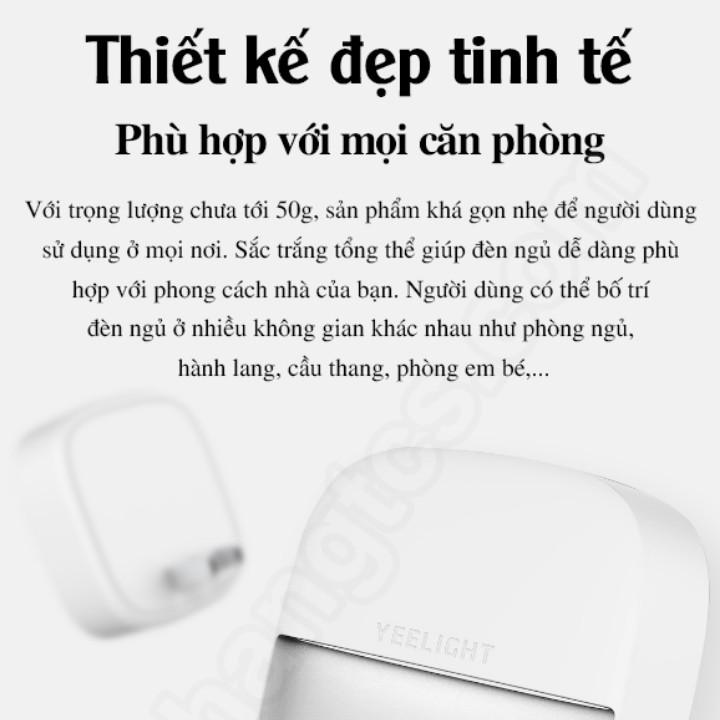 (Bảo hành 2 năm), Đèn ngủ cảm biến Xiaomi plug-in Yeelight YLYD09YL , cảm biến ánh sáng tự động bật tắt
