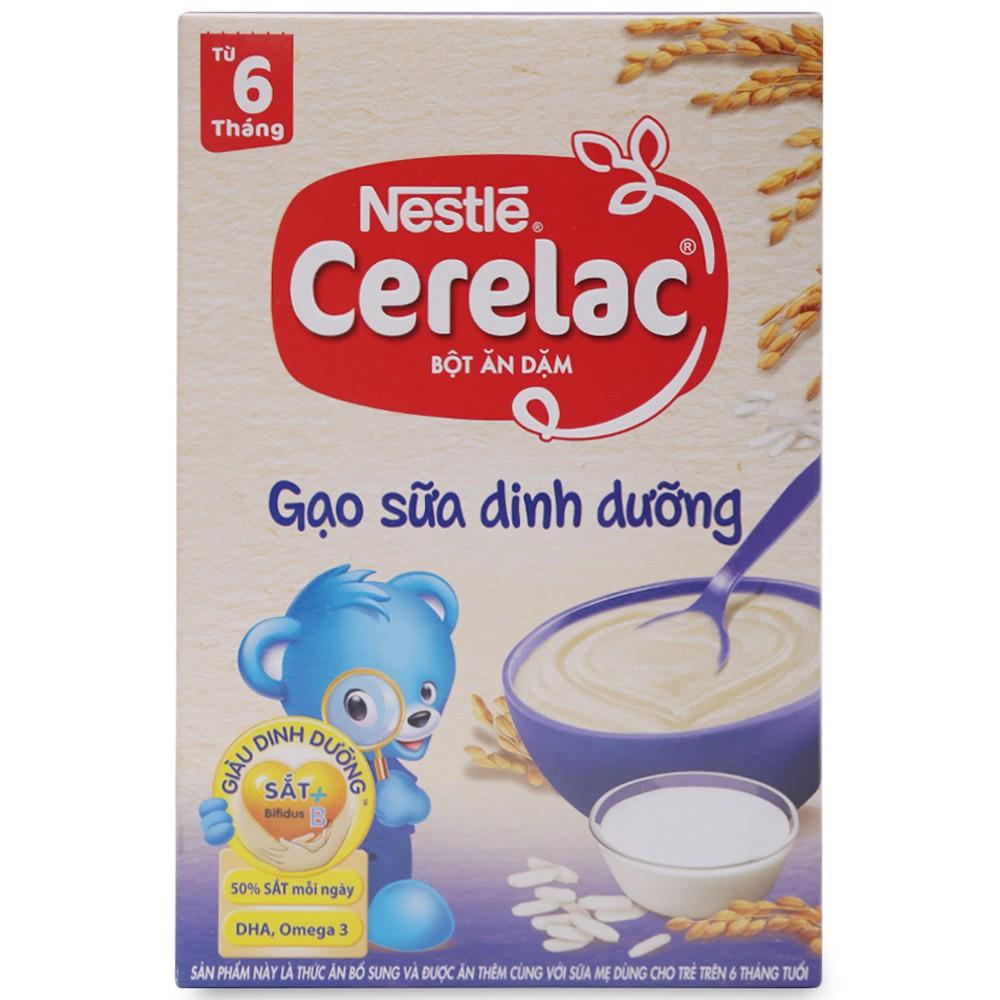 [CHÍNH HÃNG] Bột Ăn Dặm Nestle Cerelac Gạo Sữa Dinh Dưỡng Hộp 200g