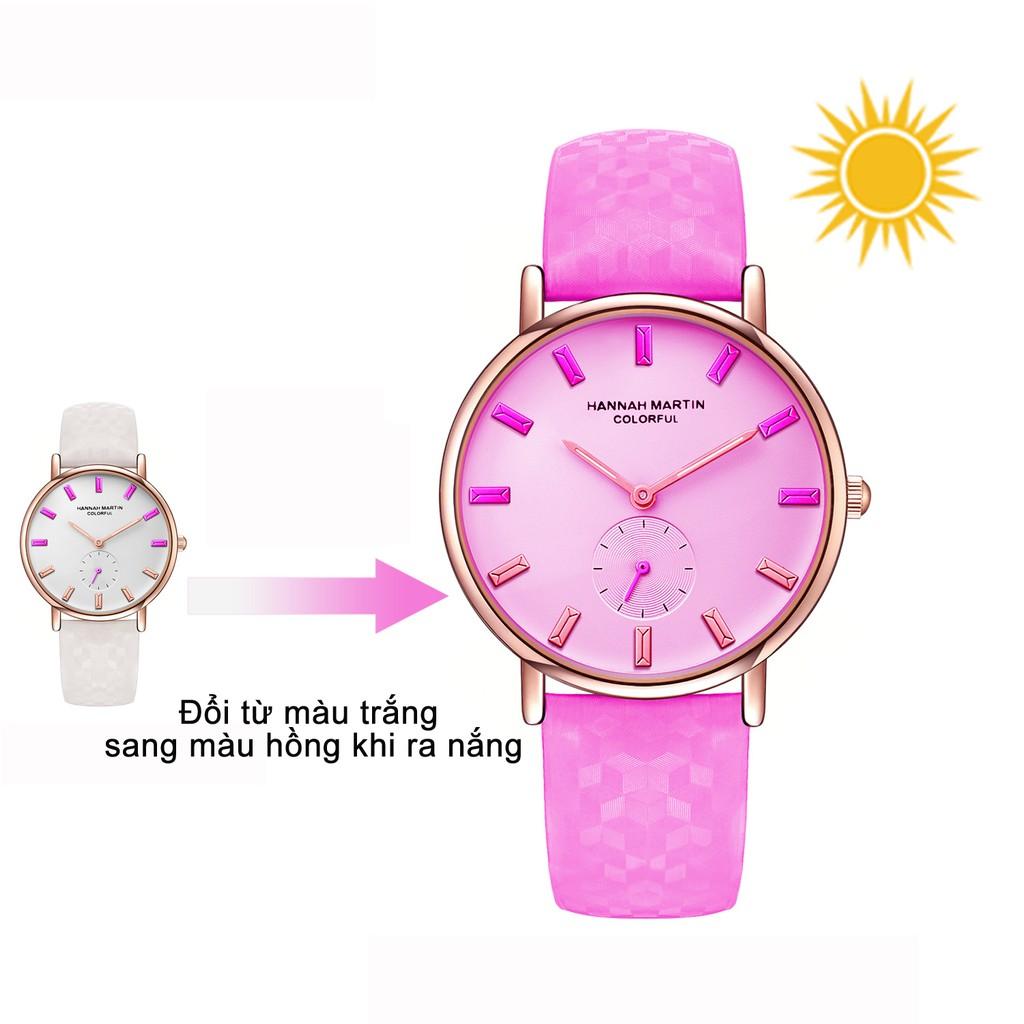 Đồng hồ nữ HANNAH MARTIN kiểu mới dây đổi màu dưới ánh nắng lạ mắt HM302 - 3523260 , 977597641 , 322_977597641 , 300000 , Dong-ho-nu-HANNAH-MARTIN-kieu-moi-day-doi-mau-duoi-anh-nang-la-mat-HM302-322_977597641 , shopee.vn , Đồng hồ nữ HANNAH MARTIN kiểu mới dây đổi màu dưới ánh nắng lạ mắt HM302