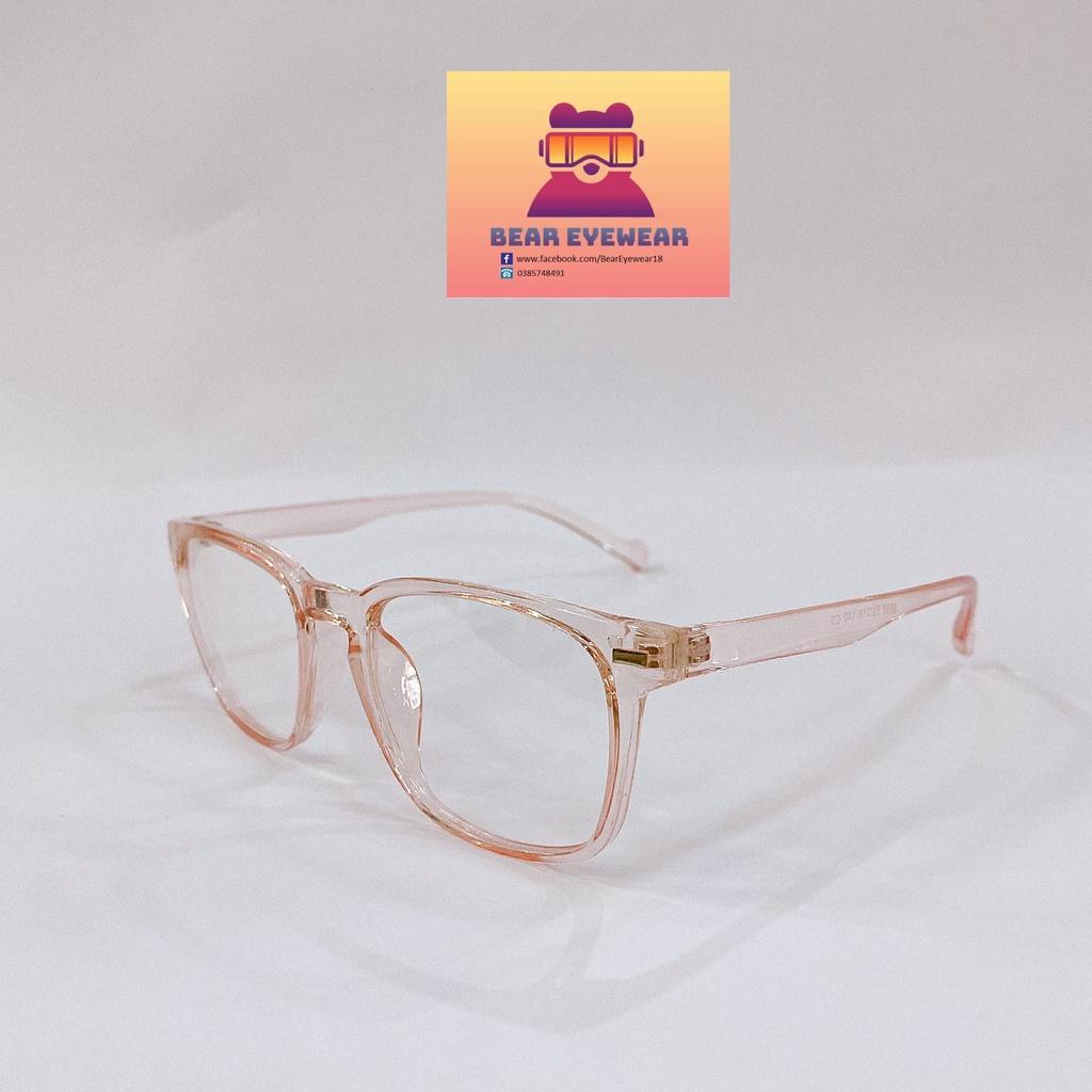 (GIẢM NGAY 50K MÃ BEARUDT6) Gọng kính cận nam nữ BEAR EYEWEAR mắt kính vuông gọng kính nhựa màu sắc...