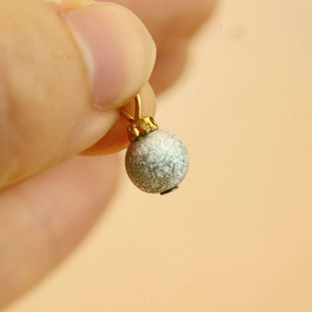 Sunei6Pcs Colorful Beads For 1:12 Miniature Dollhouse Christmas Tree Decoration
