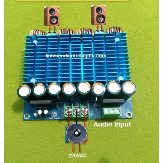 Mạch amplifier Class D TDA8954TH 2.0 - 420W*2