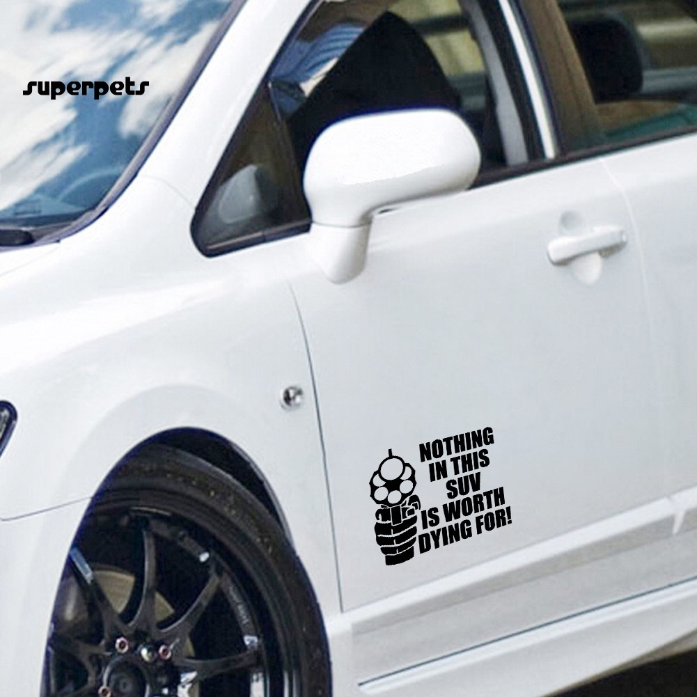super_5Pcs NOTHING IN THIS SUV IS WORTH DYING FOR Car Body Window Decor Decals Sticker
