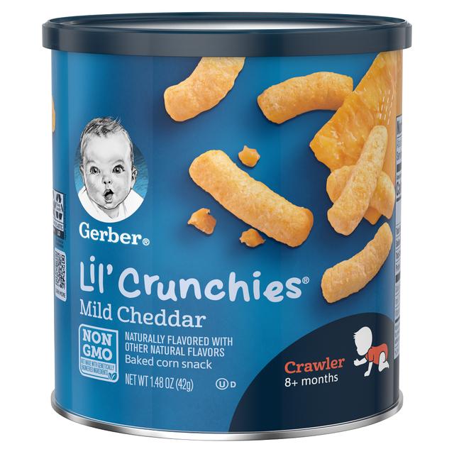 Bánh Ăn dặm Gerber Lil'Crunchies Phô mai
