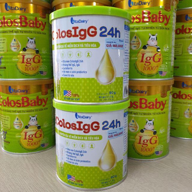 Combo 3 lon Sữa Non VitaDairy ColosIgG24h Hộp 60 Gói x 1,5g (Chuyên gia về miễn dịch và tiêu hóa)