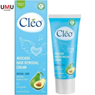 Kem Tẩy Lông Cleo 50g Màu Xanh Chiết Xuất Trái Bơ Cho Da Thường. thumbnail