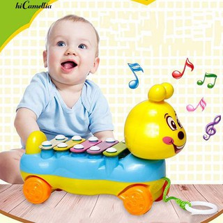 💮🐬Kids 5-Notes Xylophone Pull Along Musical Development Toy Gift