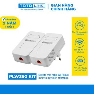 Bộ mở rộng mạng Wi-Fi qua đường dây điện 150Mbps TOTOLINK PLW350 KIT mạng dây truyền xa đến 300m Hàng chính hãng