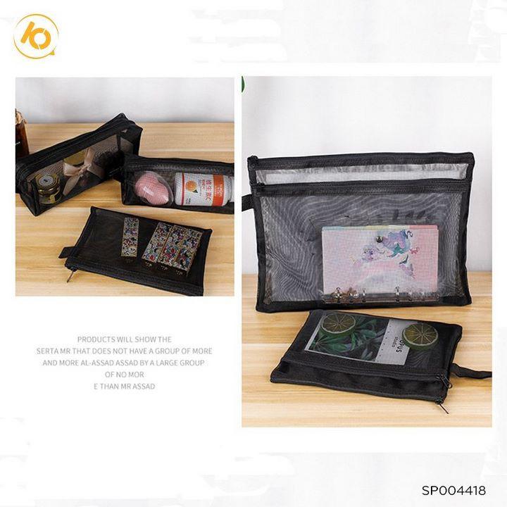 Túi lưới đựng mỹ phẩm, túi du lịch đa năng gấp gọn tiện dụng  Set 7- SP004418