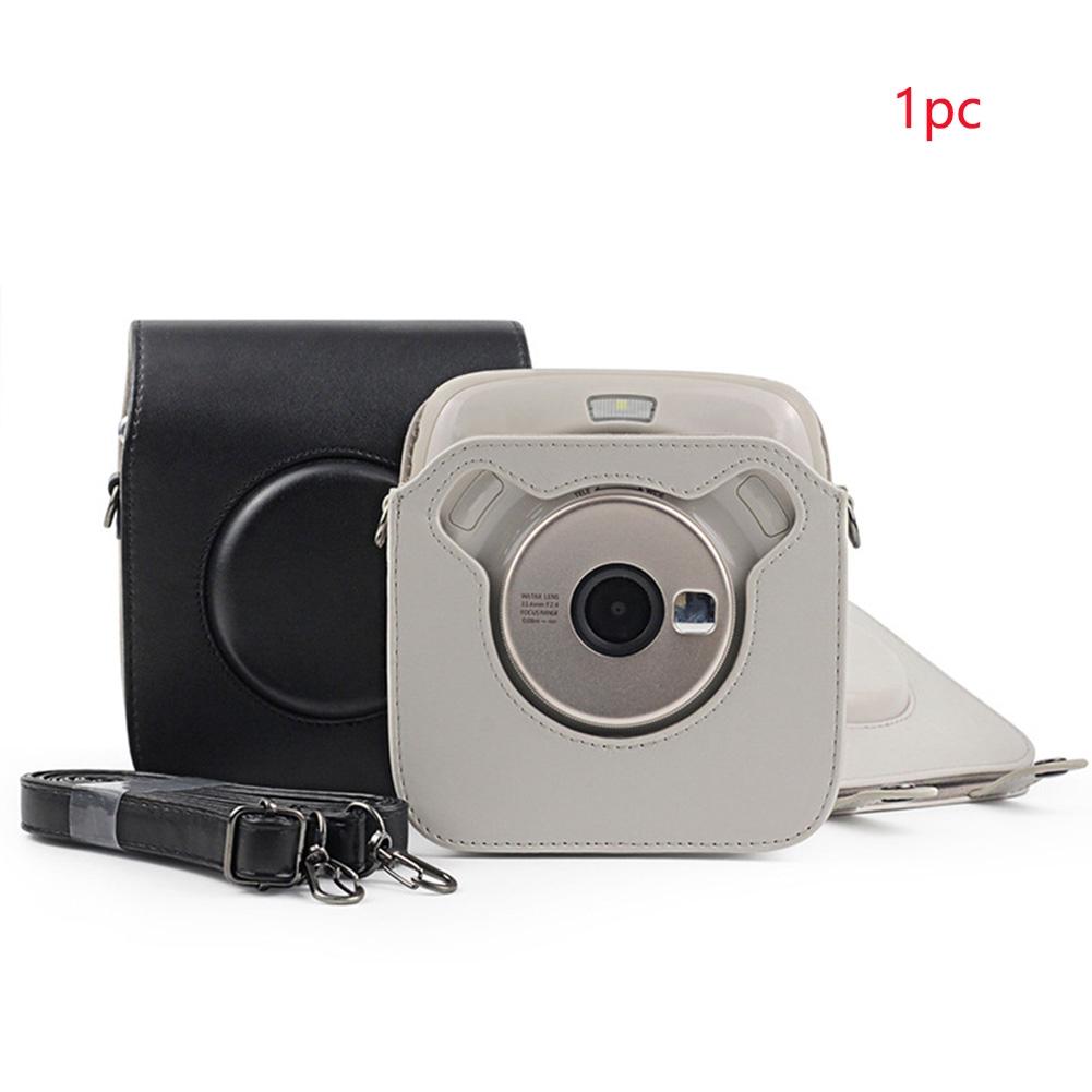 Instant Film Dustproof Unisex PU Leather Protective Fashion Camera Bag Shoulder Strap For SQ20