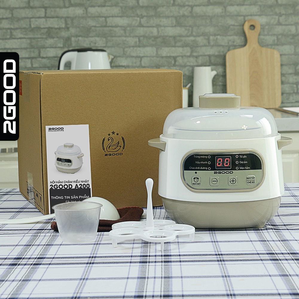 Nồi nấu chậm, nồi hầm chậm, nồi nấu cháo kiểu Nhật đa năng 2Good (A200 1L)