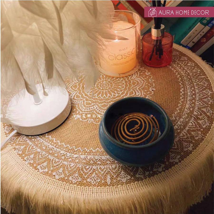 Tấm Lót Bàn Ăn, Tấm Lót Đĩa Bohemian Chống Trượt Và Cách Nhiệt - [Dành cho những nàng thích decor]
