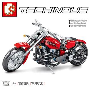 [Mã TOYJULY hoàn 20K xu đơn 50K] (CÓ SẴN) Lắp ráp lego xe moto Sembo 701706 TECHINQUE MOTO HERLAY – DOVIDSAN