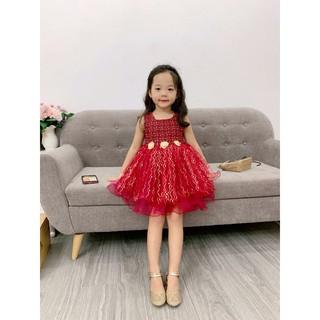 Váy dạ công chúa đính hoa eo