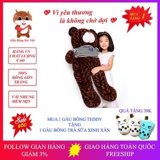 [Mua để nhận quà] Gấu Bông Teddy Đáng Yêu Size 1m 💥 FREESHIP 💥 Gấu Bông Sóc Nhí