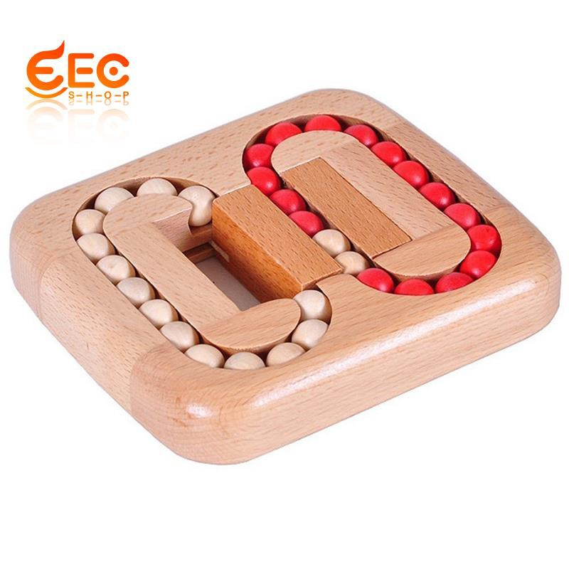 Wooden Ball Maze Puzzle Lock Burr Puzzles Brain Teaser IQ Intelligence Toys for Kids Age 6-10