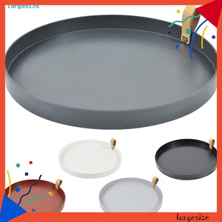 LAR_ Convenient Jewelry Dish Practical Wide Usage Round Storage Trays Round for Home