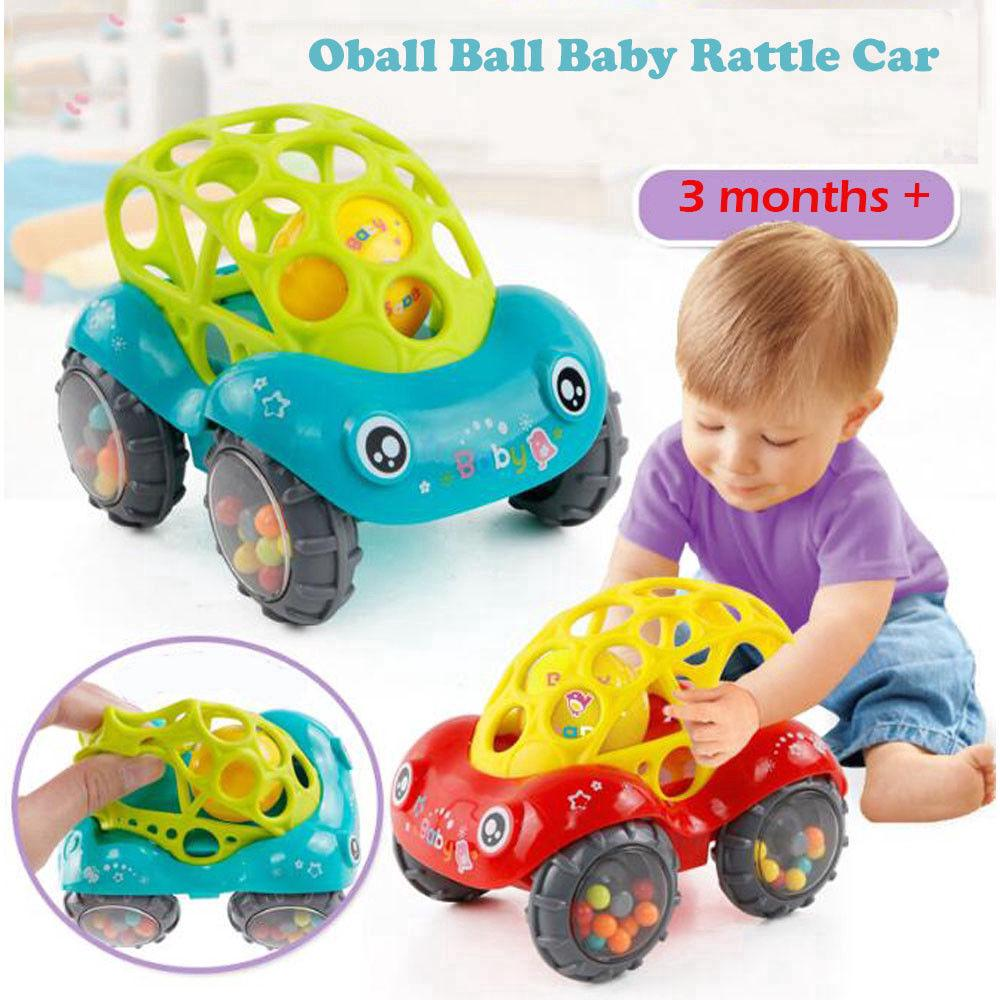 Baby Car Doll Toy Inertial Minibus Oball Ball Rattle Cars Roll Toy Baby Gift