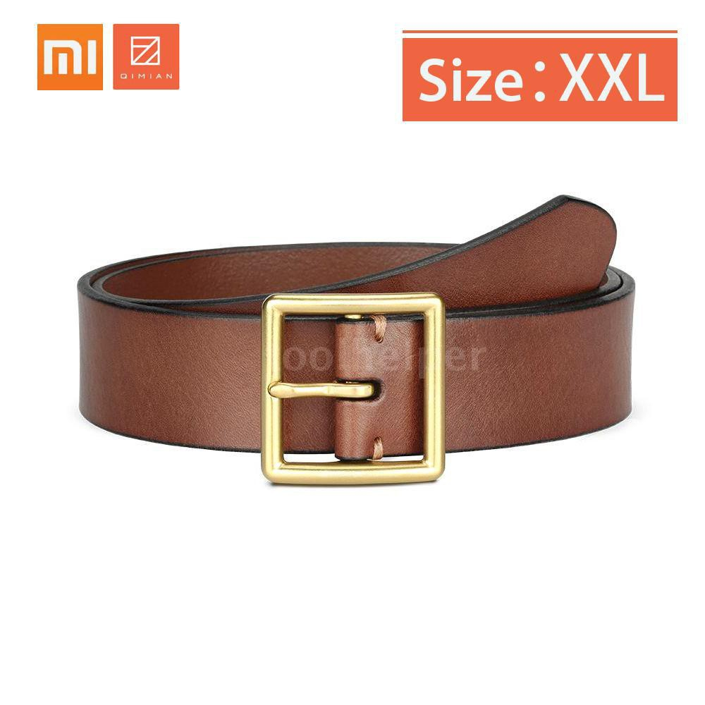 Xiaomi Qimian Men's Waistband Belt BJ38-17A01 Leisure Genuine Cow Leather Business 100-120cm 38cm Men Belt Brass Buckle