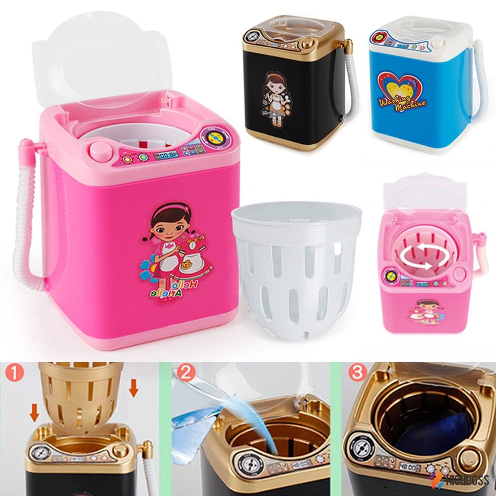 【COD】 Makeup Brush Cleaner Device Simulation Automatic Cleaning Washing Machine Mini
