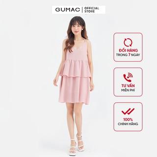 Đầm suông nữ 2 dây bèo tầng GUMAC DB634 thumbnail