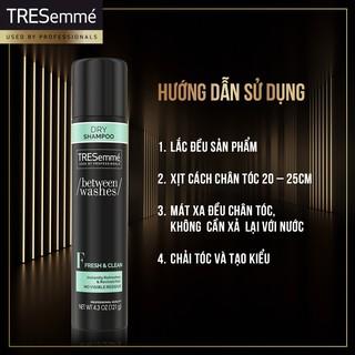 [HB GIFT] Dầu gội khô sạch tươi mát TRESemme Fresh & Clean 141g 3