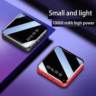NEW Sạc dự phòng 2 cổng Power Bank 10.000mAh kèm đèn pin chiếu sáng 2 chân sạc thumbnail