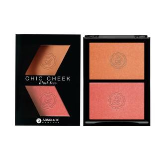 Phấn má hồng Absolute Newyork Chic Cheek Blush Duo MFBD02 Peach Fuzz Coral Gold 8g