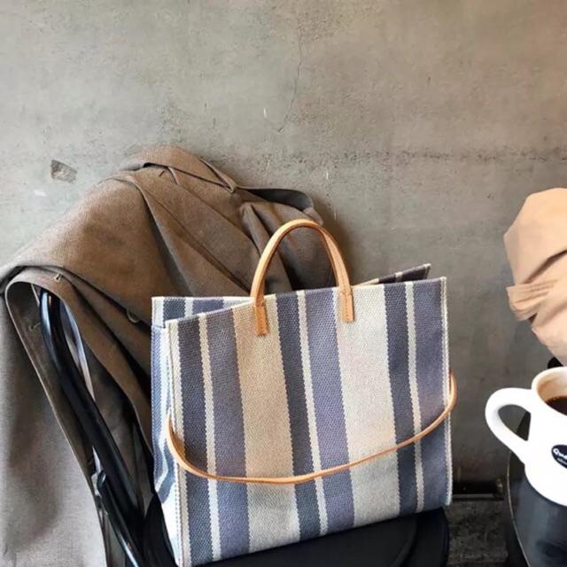 """Túi vải sọc Canvas to đựng laptop và macbook 14"""" và 15"""""""